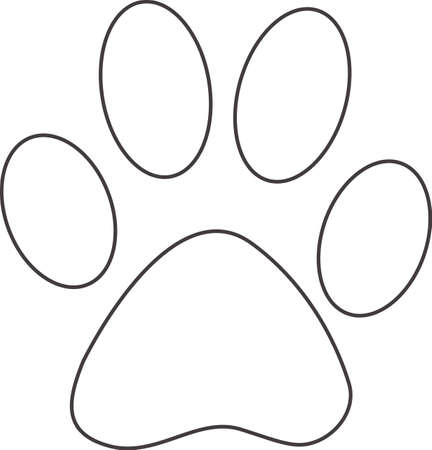 pawprint: This outline is perfect to add to your custom design for dog paws.