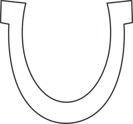 good luck symbol: This outline is perfect to add to your custom design for good luck symbol. Illustration