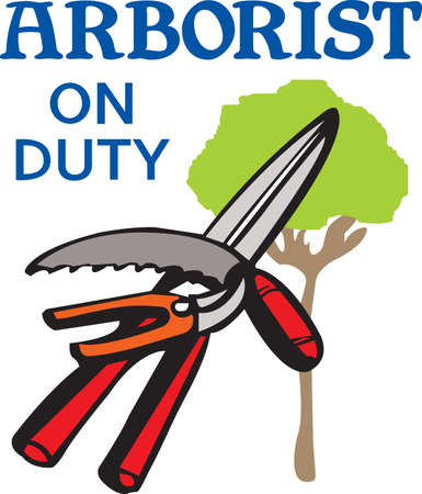 arboretum: Its the perfect advertisement for your tree care business.  Get these designs from Great Notions. Illustration