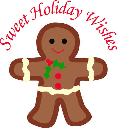 christmas cookie: This cute gingerbread person is perfect for your Christmas decorating.  A cute design from Great Notions.
