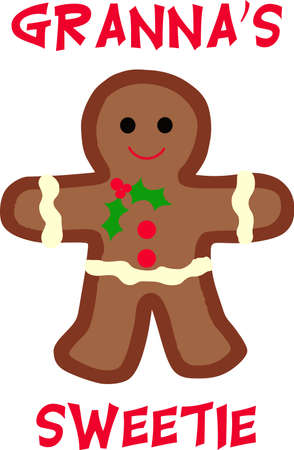 gingerbread: This cute gingerbread person is perfect for your Christmas decorating.  A cute design from Great Notions.