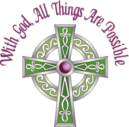 gaelic: The cross represents Christ because of his Crucifixion and Resurrection pick those designs by Great Notions!