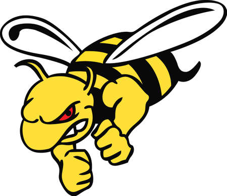 yellow jacket: Show your team spirit with this hornet logo.  Everyone will love it!