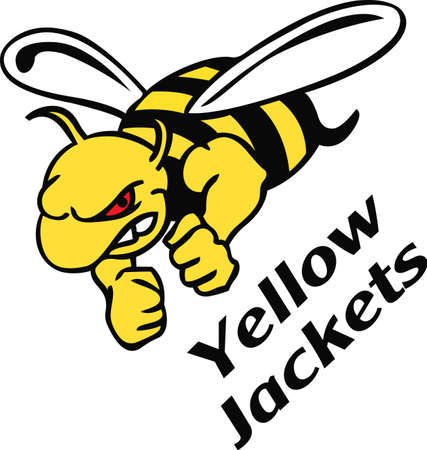 Show your team spirit with this hornet logo.  Everyone will love it!