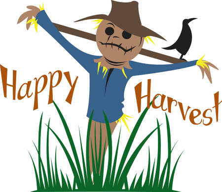 autumn scarecrow: Have a cute scarecrow for the autumn season.