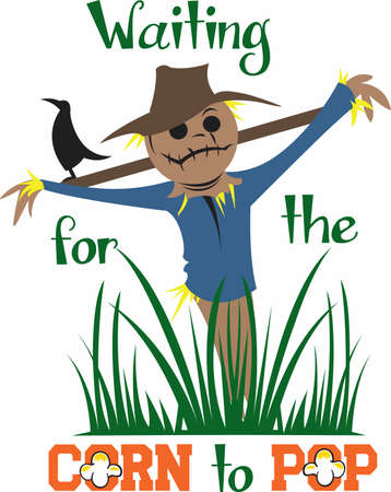 Have a cute scarecrow for the autumn season.