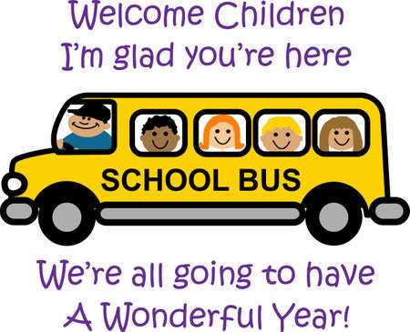 glad: Send the kids to school in a fun bus.