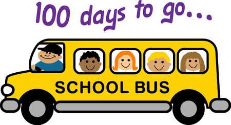 Send the kids to school in a fun bus.