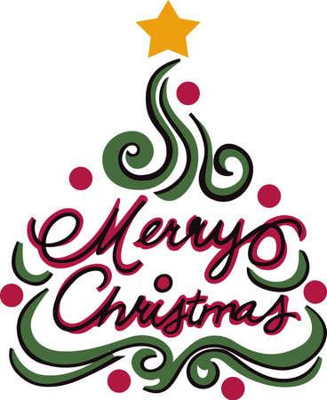 渦巻きツリーは、クリスマスを言うための素晴らしい方法です。  イラスト・ベクター素材