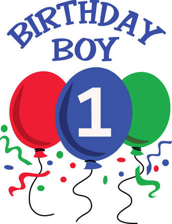 notions: The birthday boy is 1 years old today. A perfect design from Great Notions.