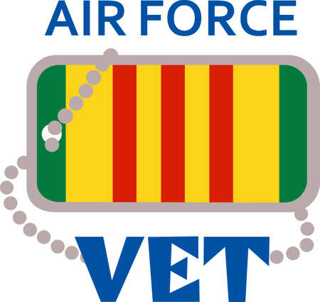 armed force: Let them know you are proud of your Air Force Vet hero.  Show support for our troops with this special design. Illustration
