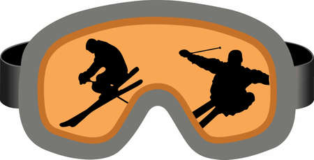 eyewear: This is perfect to wear this winter design while enjoying playing or skiing.  Your family will love it. Illustration