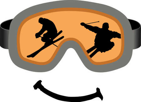 eyewear: This is perfect to wear this winter design while enjoying playing or skiing.  Your family will love it! Illustration