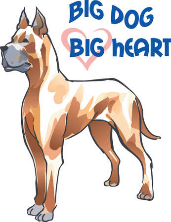 Have a great dane with you always with this dog. Illustration