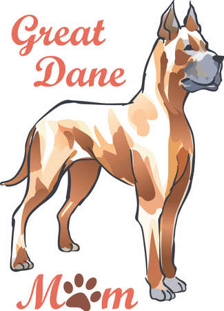 pure bred: Have a great dane with you always with this dog. Illustration