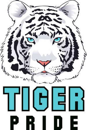 Tigers are a majestic animal. Ilustração