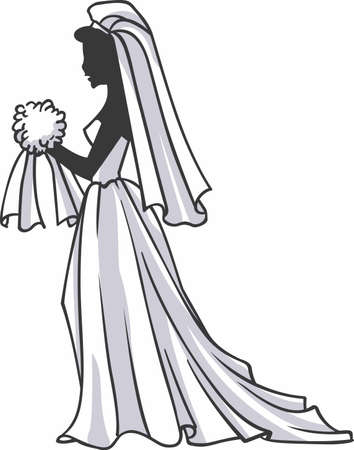 special day: Have a beautiful bride for that special day. Illustration