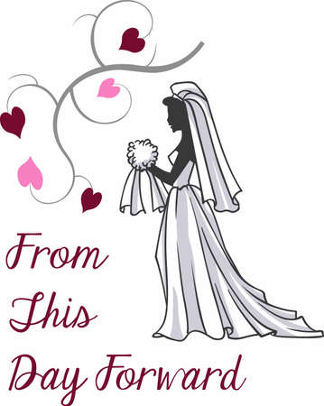 newlywed: Have a beautiful bride for that special day. Illustration