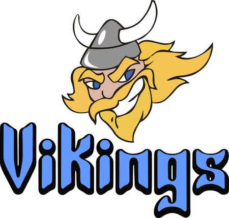 Een Viking kan nooit worden veroverd. De overwinning is van mij! Een perfect ontwerp voor de volgende wedstrijd van Great Notions. Stock Illustratie