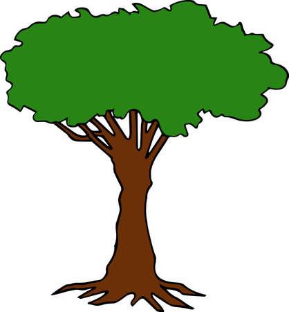 나무는 위엄 있고 가장 자연 스럽습니다.