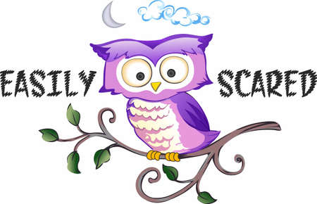 song bird: This adorable owl is singing a happy song.  Send this bird of happiness to someone.  They will love it!