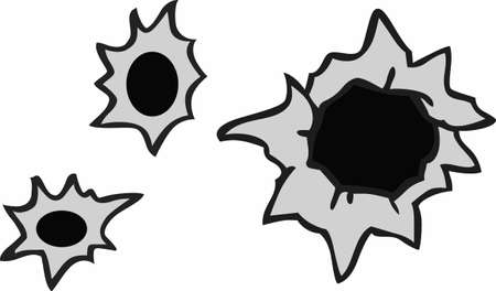holes: Mark a project with fake bullet holes.