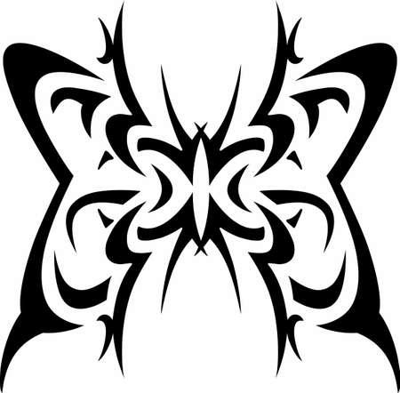 mariposa: Tribal designs make wonderful tattoos.