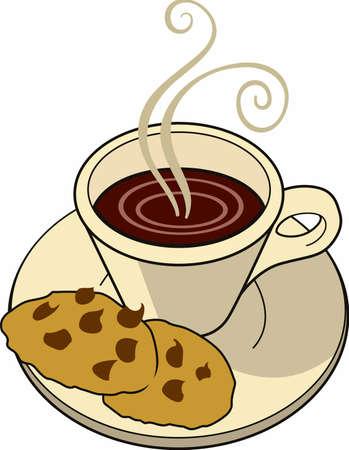 Heeft u een koffie pauze met een kopje en wat koekjes.