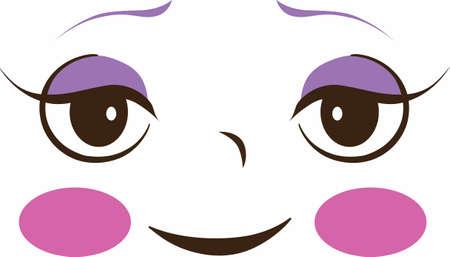 당신의 인형에 아름다운 인형의 얼굴을 추가하는 가장 좋은 방법은 좋은 관념에서이 귀여운 디자인을 사용하는 것입니다.