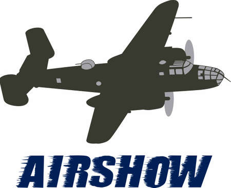 This image features a plane from WWII that is flown at airshows.  This is a perfect design from Great Notions for the next show!