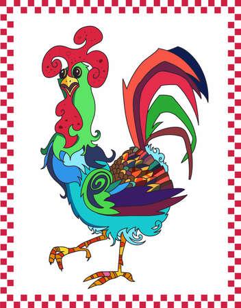 Haben Sie ein bunter Hahn in Ihrer Küche. Standard-Bild - 45195578