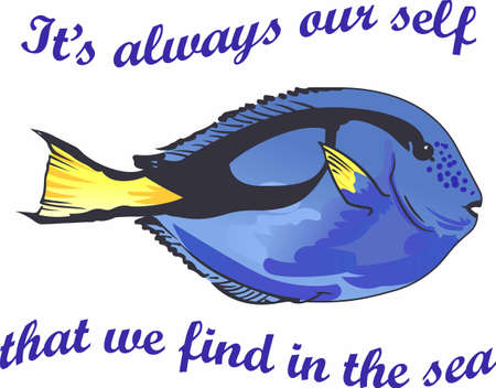 Its always our self that we find in the sea.  Another cute design from Great Notions.