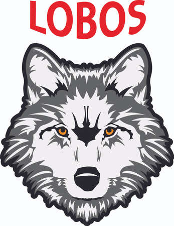 coyote: Show your team spirit with this wolf logo.  Everyone will love it! Illustration
