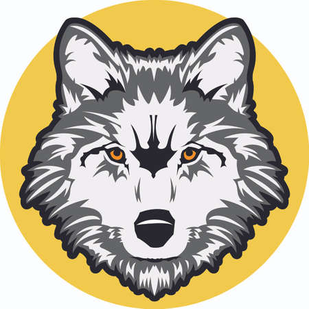 lupus: Show your team spirit with this wolf logo.  Everyone will love it! Illustration