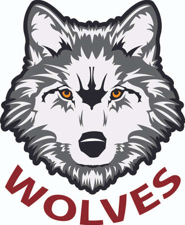 Show your team spirit with this wolf logo.  Everyone will love it! Иллюстрация