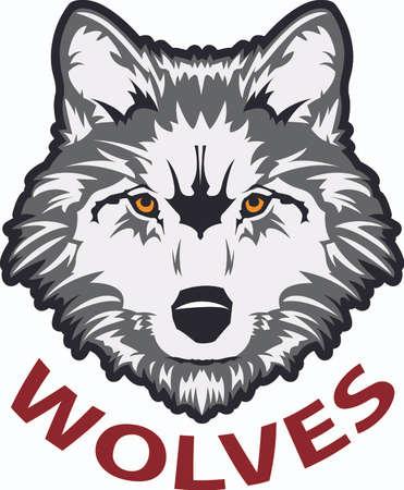 Toon uw teamgeest met dit wolf logo. Iedereen zal het geweldig vinden! Stock Illustratie