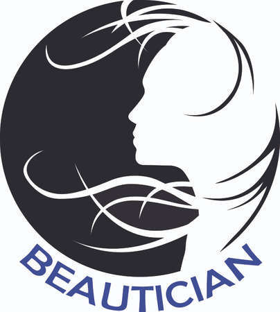 notions: This beautiful silhouette of a lady with her hair flowing in the wind is a beautiful design from Great Notions. Illustration