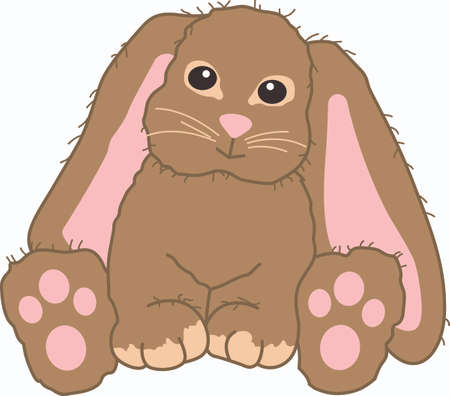 notions: This cute bunny is a perfect gift for Easter.  Pick those designs from Great Notions! Illustration