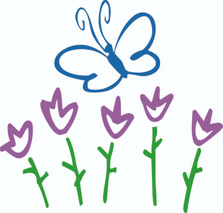 This is a beautiful combination of butterflies and flowers.  Pick these designs from Great Notions.