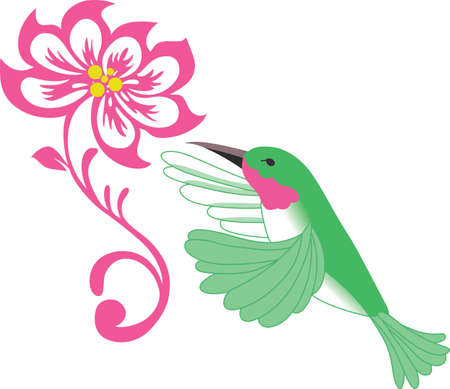 This Ruby Throated Hummingbird is a beautiful design with a flower.  Send this bird of happiness to someone.  They will love it!