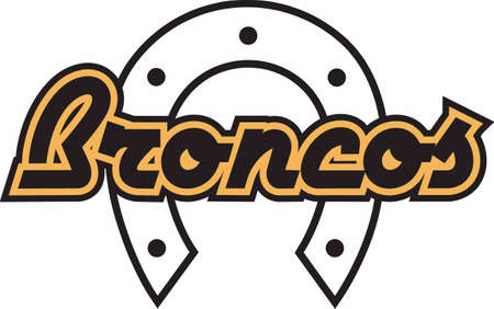 bronco: Show your team spirit with this Brocos logo.  Everyone will love it!