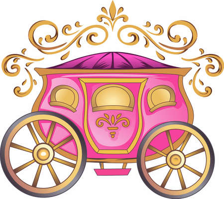 428 cinderella carriage stock vector illustration and royalty free rh 123rf com princess carriage clipart horse carriage clipart
