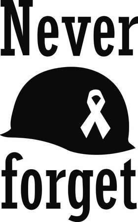 Remember our heros that they maybe gone but they are not forgotten. Ilustração