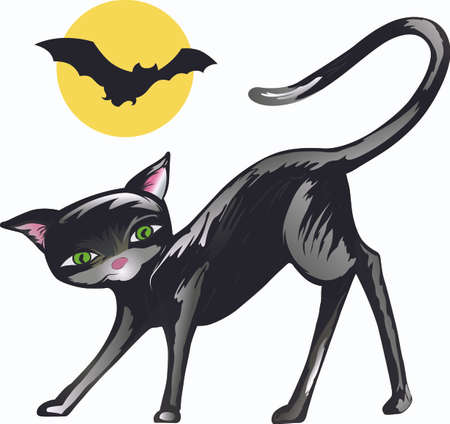 Black cats are the perfect addition for Halloween.  Grab this design from Great Notions. Illustration