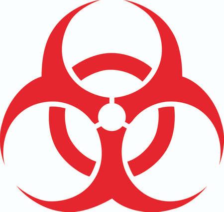 riesgo biologico: Marque un peligro de seguridad con este símbolo de riesgo biológico.