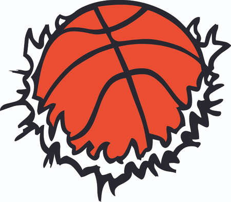 teamsport: Basketball is a very active sport taking years to master.  Give this unique gift to your favorite player.  They  will love it! Illustration