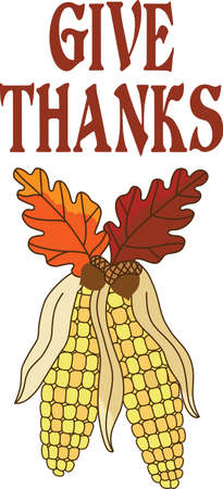 caes: Corn and oak leaves are perfect for you fall Thanksgiving designs.  Another beautiful design from Great Notions.