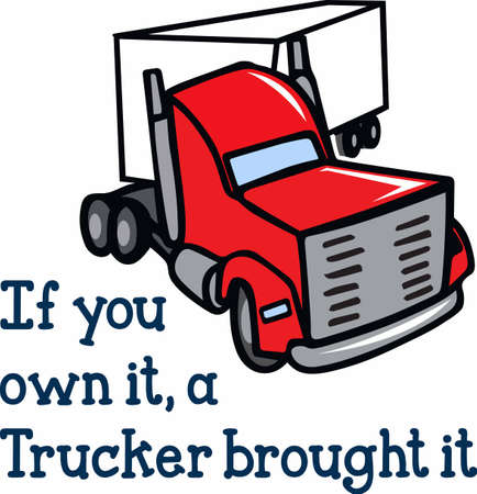 hauler: Truckers like to show off their big rigs.