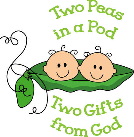 The parents of twins will love these cute little baby peas.