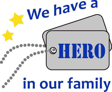 Be proud of your hero and give them special dog tags.